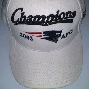 NEW ENGLAND PATRIOTS 2003 AFC CHAMPIONS HAT OS